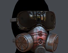 Gas mask helmet 3d model scifi realtime 4