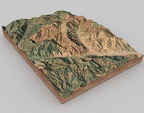 3D model Mountain landscape staellite