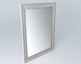 3D Gray mirror Valentine houses the world