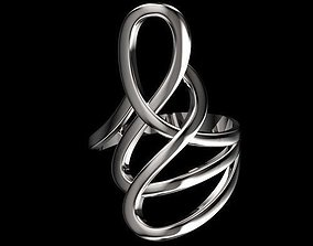 twisted ring 3D printable model