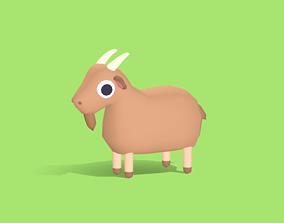 3D asset Gunter the Goat - Quirky Series