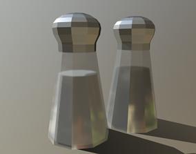 3D model Salt and Pepper Shaker - Low Poly