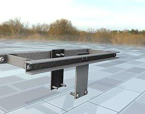 3D asset Concrete Power Pole Cross Connection 9 - Object