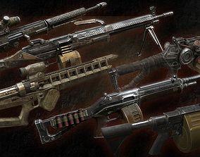 3D asset Shooter Weapon Pack