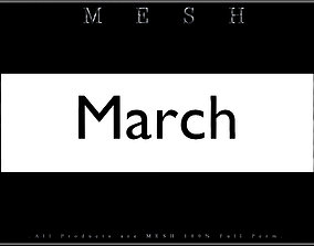 3D asset March - C
