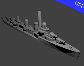 3D printable model US Benson Class Destroyer Warship