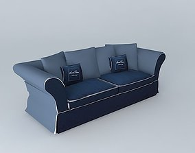 3D Roma solid blue sofa houses the world