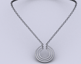 3D model game-ready diadem Necklace
