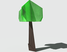 Origami Tree 3D asset