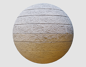 Stone Wall PBR Texture 04 3D model