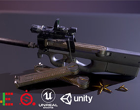 HIE Game Ready P90 Attached D180521 3D asset