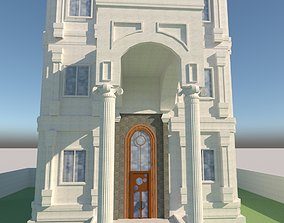 Villa Hotel 3 floors Neo classical Villa With 3D asset