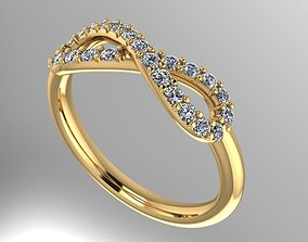infinity diamond ring 3D printable model