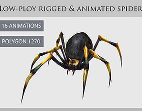 animated spider 3D model realtime