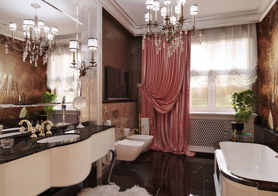 Apartment in Rostov-on-Don. A bathroom.