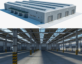 Warehouse Logistic 3 interior and exterior 3D model