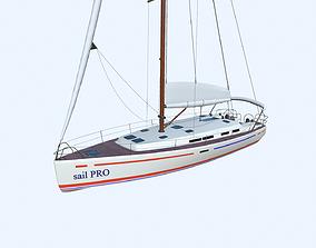 3D asset Sailing Yacht PBR