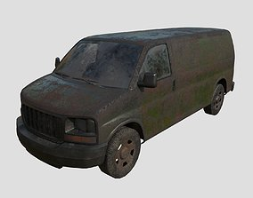 Abandoned pickup 04 3D model
