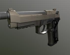 Unreal and Unity Beretta M9 3D asset