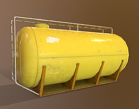 realtime Cistern Realistic - Low Poly - Game ready 3