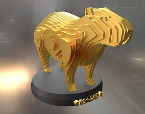 Parametric Capybara 3D model