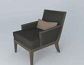 3D Ecart Bergere 1930 Lounge Chair