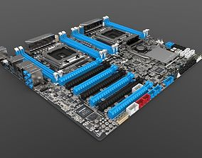 Asus Z9PE-D8 WS Dual-Socket 2011 Motherboard 3D model