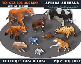 Low Poly Animals Africa Cartoon Collection 3D asset 2