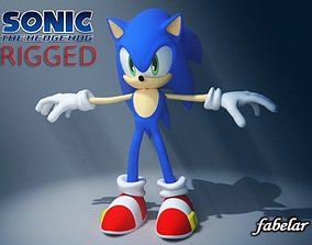 Sonic Rigged 3D model
