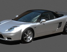 low-poly Auto Honda NSX 3D model auto