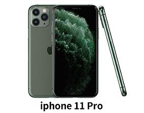 laptop 2019 Apple iphone 11pro mobile phone 3D model
