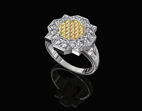 Fancy Ring with texture 3D print model