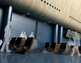3D model Waiting Area In An Airport