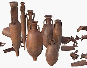 Amphora - Red Terracotta 3D model realtime