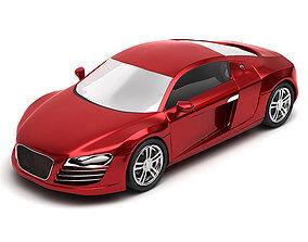 Audi R8 3D model low-poly
