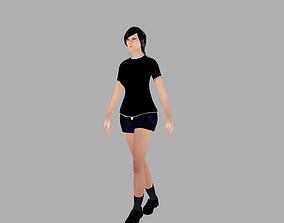 3D Hot girl
