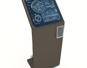 Interface kiosk 3D asset