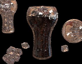 classic glass of coca cola 3D