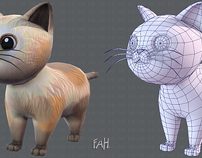 Cat Cartoon V01 3D model
