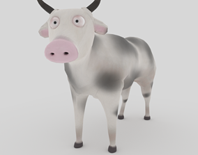 3D model Rigged and Animated Cow