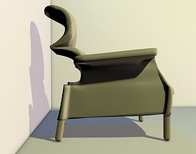 new century style modern armchair 3D