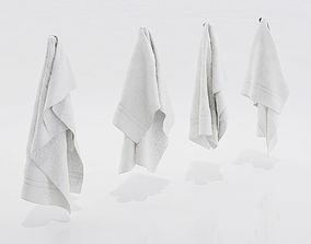 3D White towels