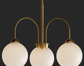 3D model Carisa Collection 3 Light Vintage Gold 2