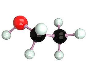 Ethanol Molecule 3D asset