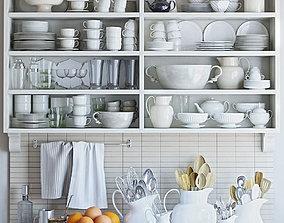 decanter 3D Kitchen Decor Set