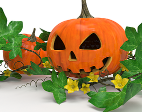 Halloween pumpkins 3D model fictional