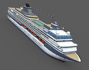 Cruise Ship 3D asset game-ready