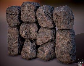 Rock Boulder Pack 04 - PBR 4K 3D model