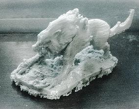 Wolf Monster sculpture 3D print model