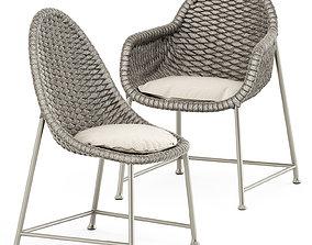 3D Chopstix armchair and Chopstix side chair by Janus et